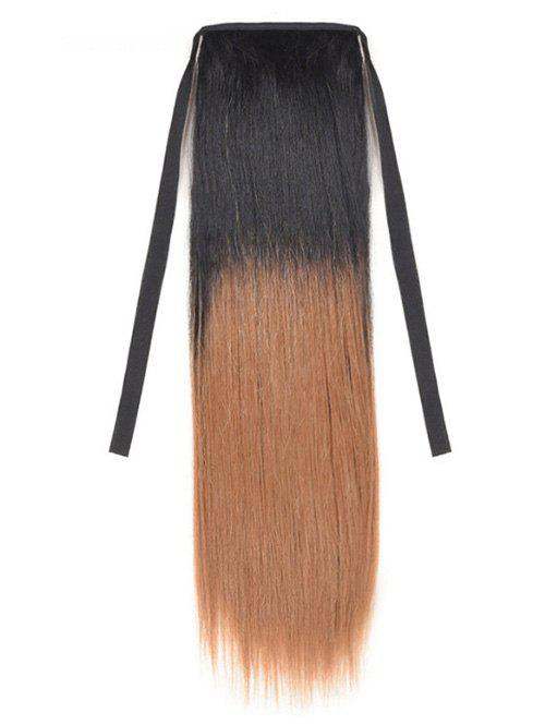 Discount Synthetic Long Straight Ombre Hair Extension Ponytail