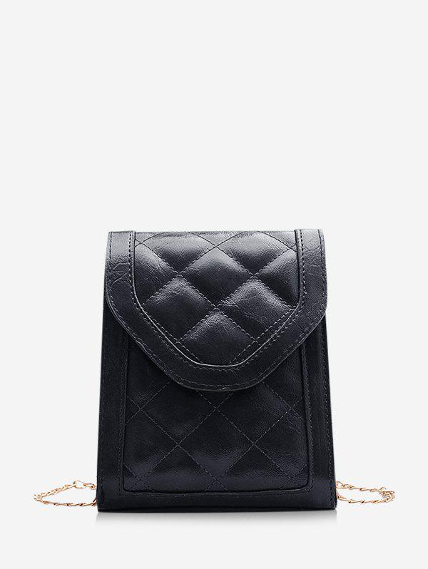 Hot Rectangle Cover Quilted Chain Crossbody Bag