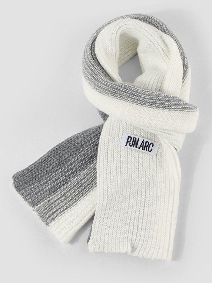 Best Colorblock Winter Long Knitted Scarf