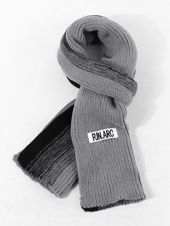 Sale Colorblock Winter Long Knitted Scarf