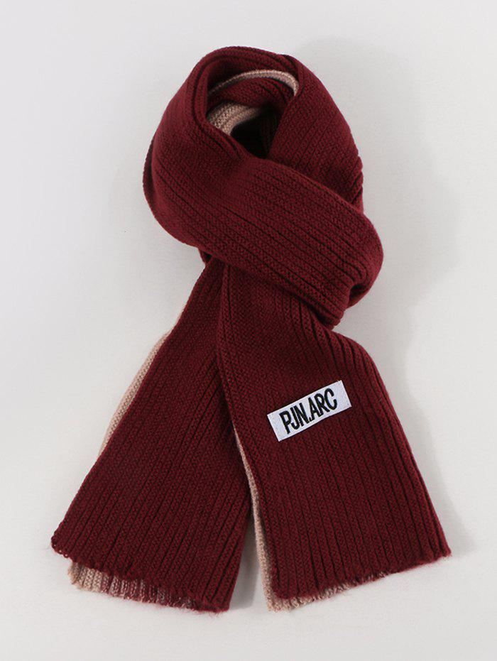 Online Colorblock Winter Long Knitted Scarf