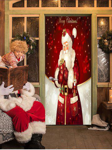Christmas Santa Claus Print Decorative Door Art Stickers - MULTI - 2PCS X 15 X 79 INCH