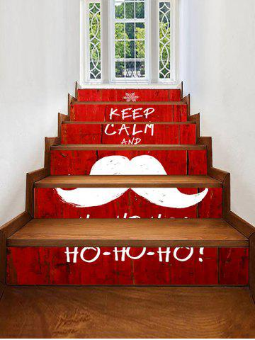 Christmas Beard Print Decorative Stair Stickers - MULTI - 6PCS X 39 X 7 INCH( NO FRAME )