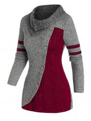 Patchwork Two Tone Knitwear -