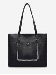 Large Capacity Pure Color Tote Bag -