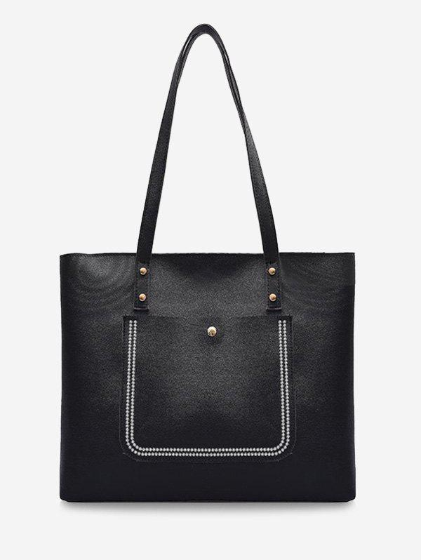 Outfit Large Capacity Pure Color Tote Bag