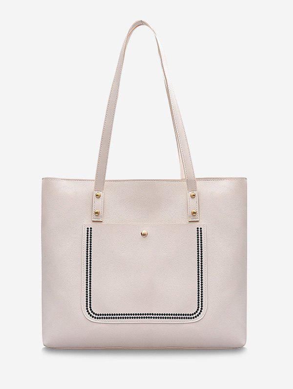 Online Large Capacity Pure Color Tote Bag