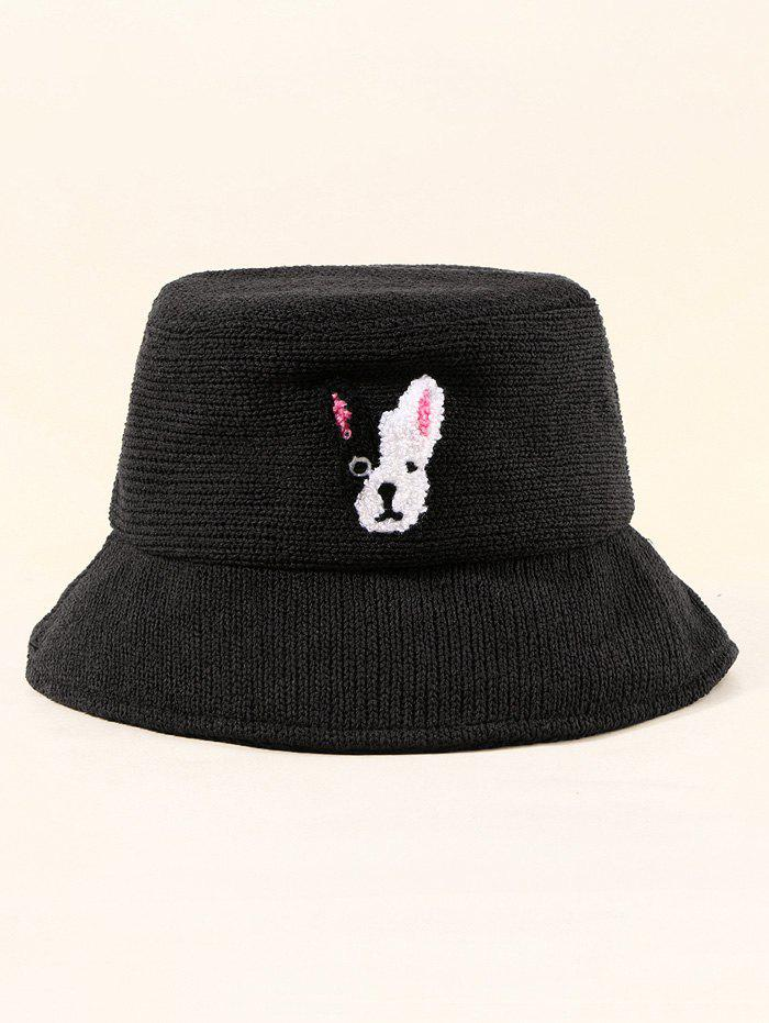 Buy Puppy Embroidered Pattern Bucket Hat