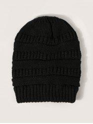 Winter Solid Ribbed Knitted Hat -