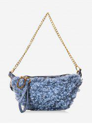 Faux Shearling Double Strap Fanny Pack -