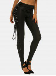 Lace Up O Ring Punk Pants -