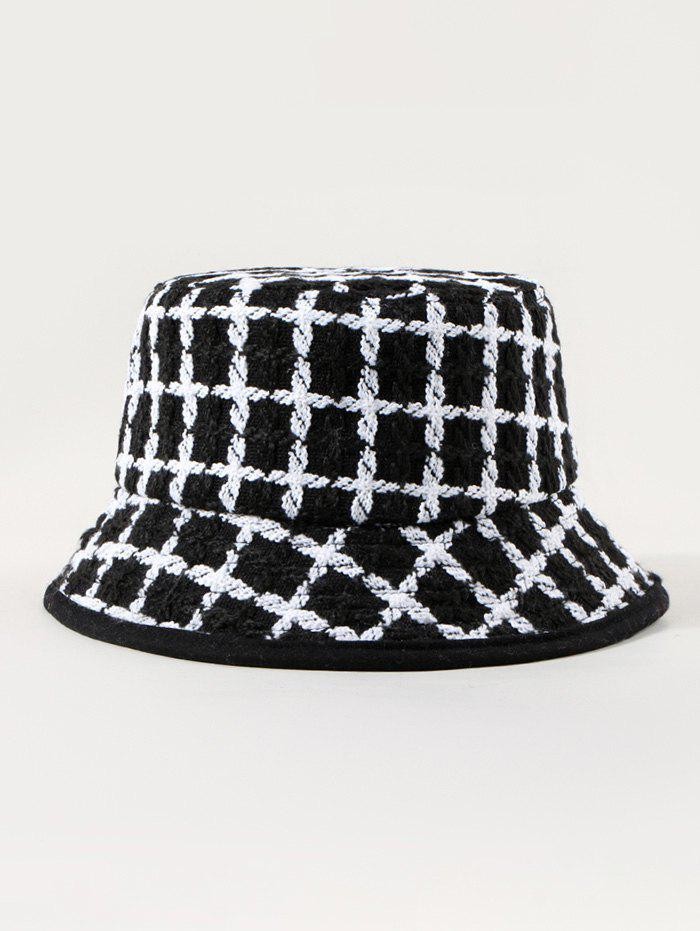 Chic Winter Plaid Pattern Bucket Hat