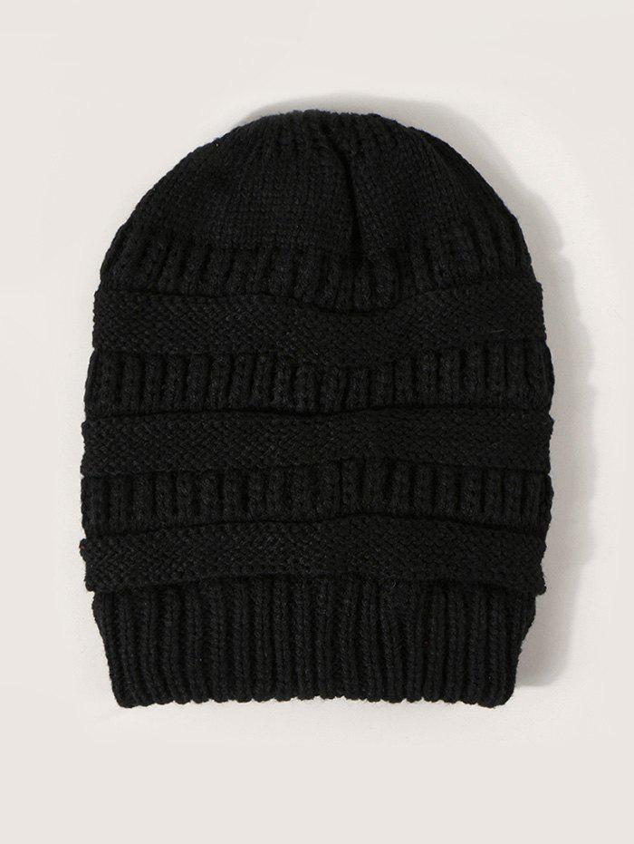 Unique Winter Solid Ribbed Knitted Hat