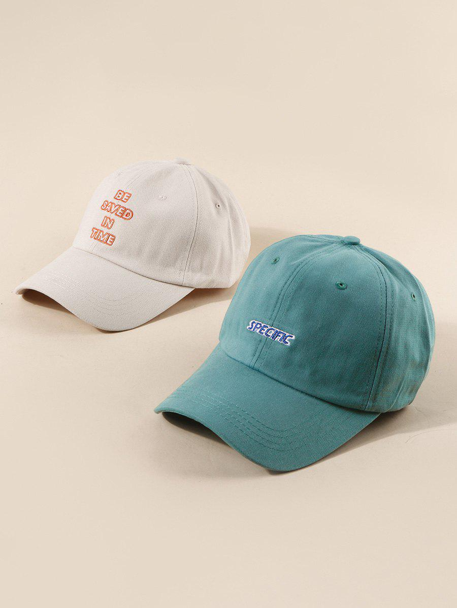 Discount 2Pcs Embroidery Letter Baseball Cap Set