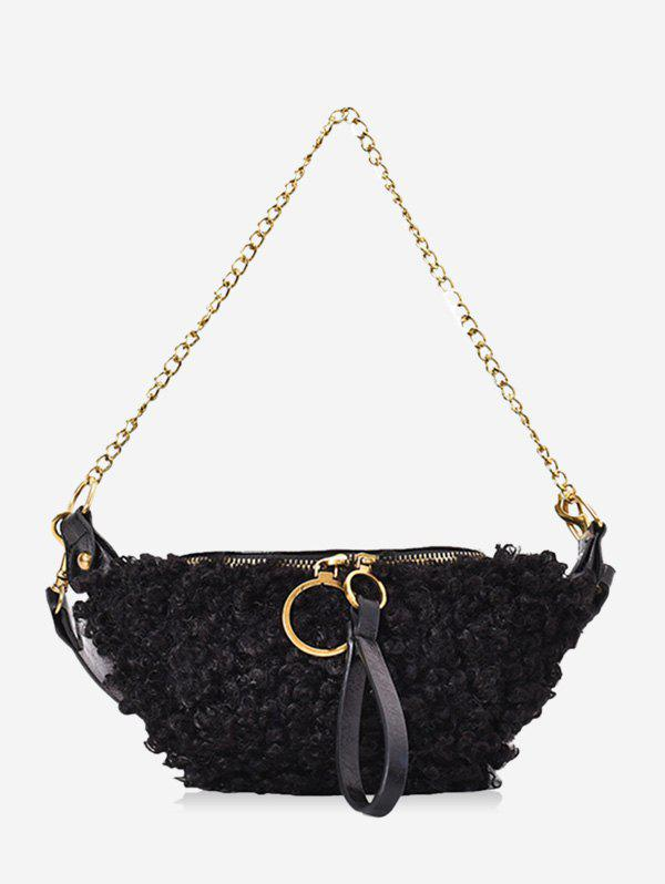 Buy Faux Shearling Double Strap Fanny Pack