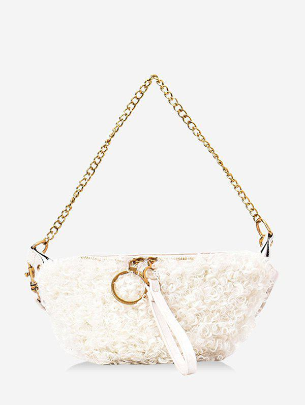Hot Faux Shearling Double Strap Fanny Pack