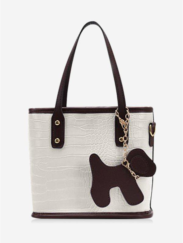 Latest Dog Detail Animal Pattern PU Leather Tote Bag