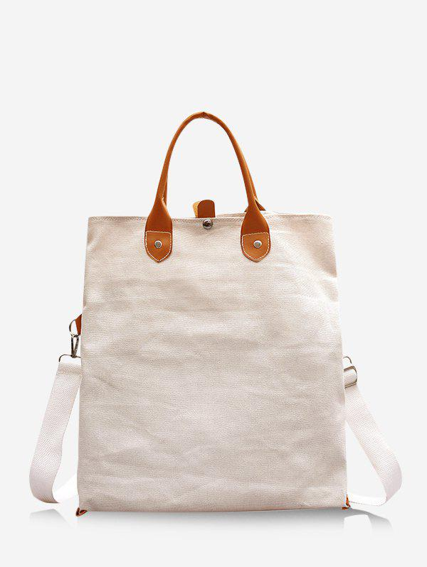 Affordable Brief Colorblock Canvas Fold Over Bag