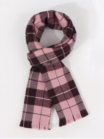 Checkered Pattern Long Shawl Scarf