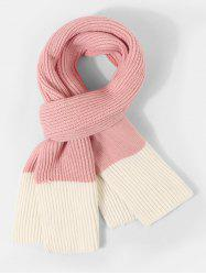 Two Tone Knitted Long Winter Scarf -