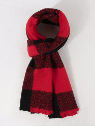 Checked Print Long Winter Scarf -