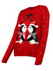 Christmas Berry Funny Graphic Sequined Sweater -