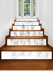 Christmas Snowman Family Print Removable Stair Stickers -
