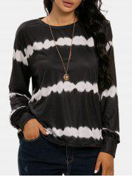 Streak Dye Long Sleeve Top -