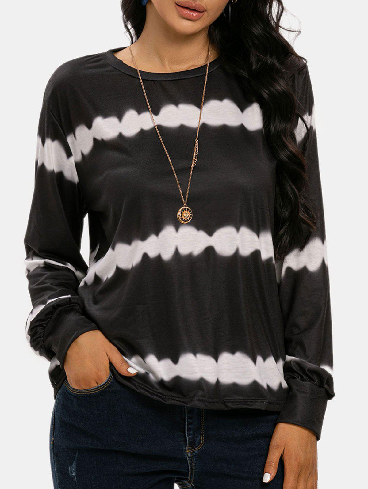 Discount Streak Dye Long Sleeve Top