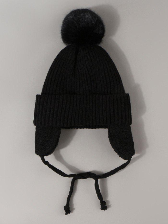 Outfit Plush Knitted Ear Warmer Bubble Hat