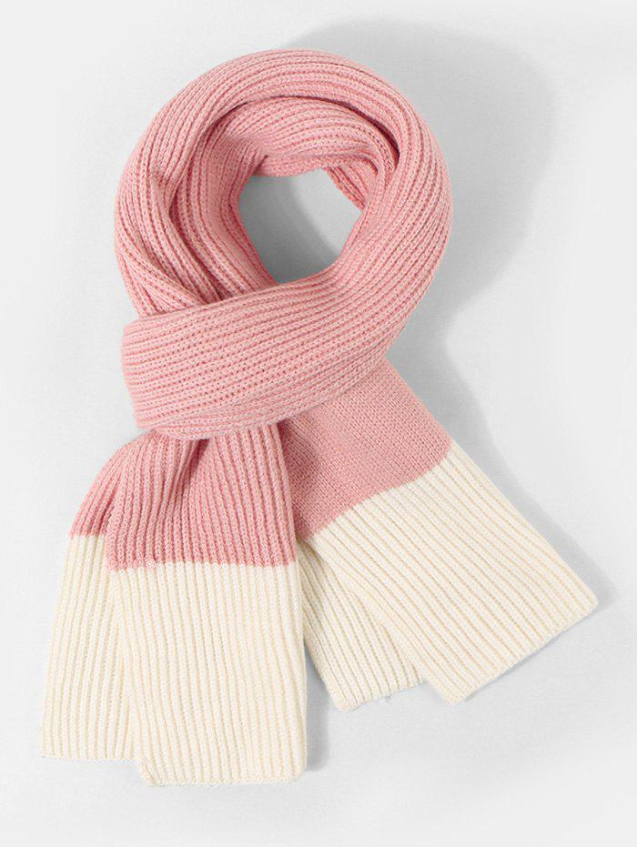 Online Two Tone Knitted Long Winter Scarf