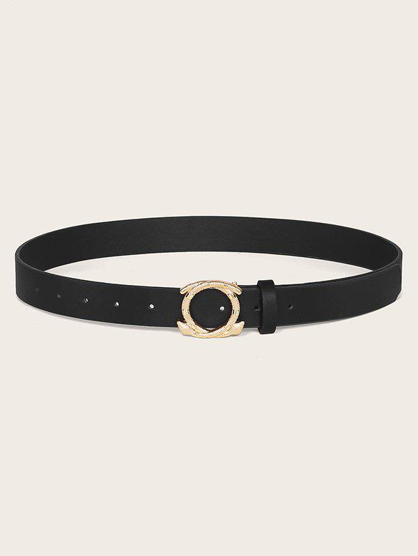 Best Engraved Snake Shape Buckle Waist Belt