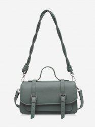 Retro Twist Strap Crossbody Messenger Bag -
