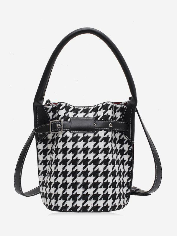 Outfit Retro Houndstooth Printed Bucket Bag