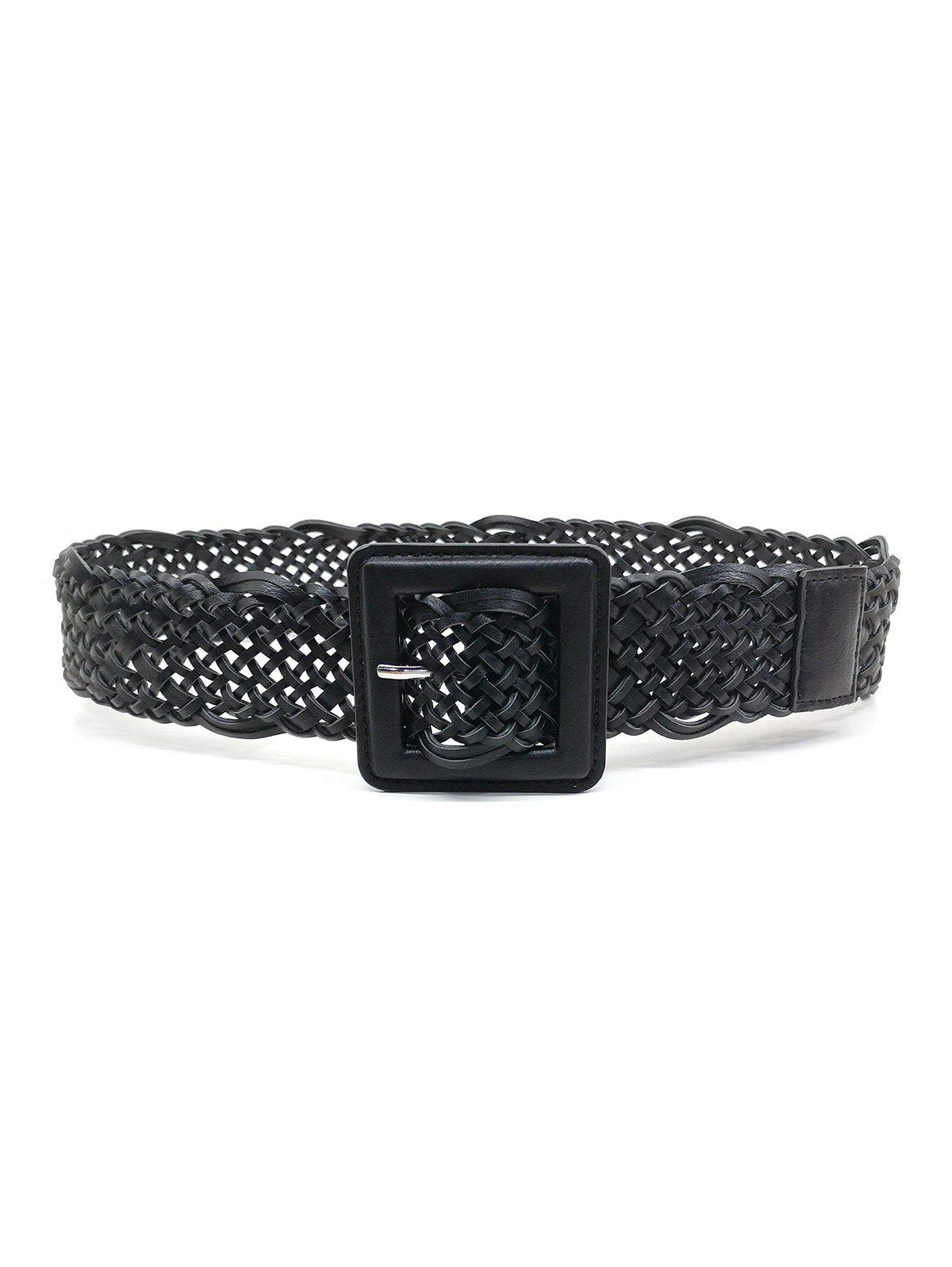 Chic Braided Hollow Out Square Pin Buckle Belt