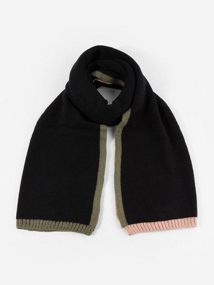 Shop Colorblock Winter Knitted Scarf