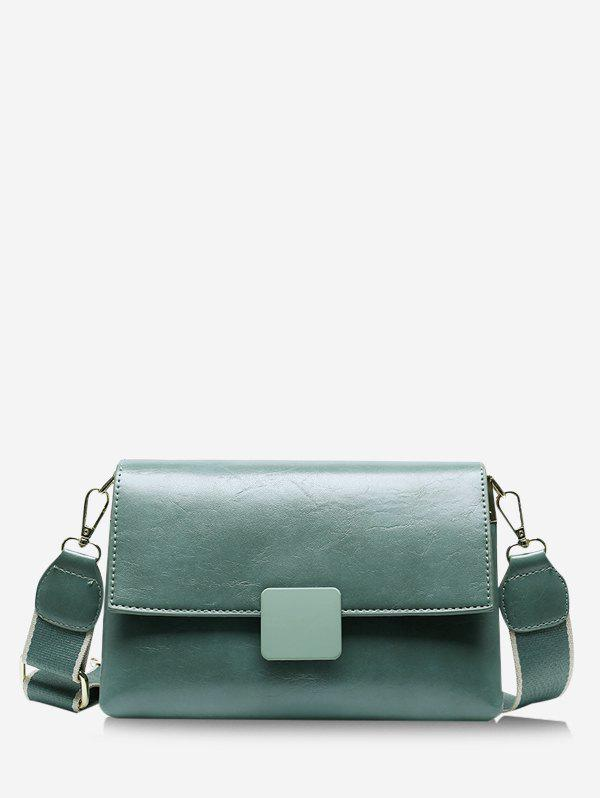 Latest Rectangle Wide Strap Cover Crossbody Bag
