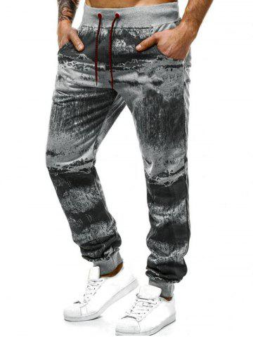 Ink Painting Print Jogger Sweatpants