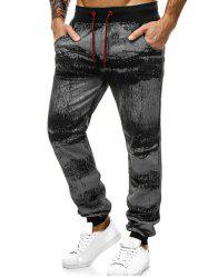 Ink Painting Print Jogger Sweatpants -
