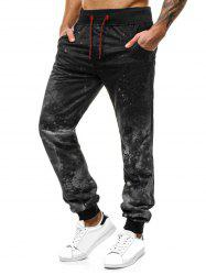Painting Splatter Printed Jogger Sweatpants -