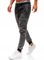 Elastic Waist Paint Splash Jogger Sweatpants -