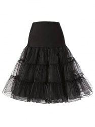 Tiered Swing Solid Tulle Skirt -