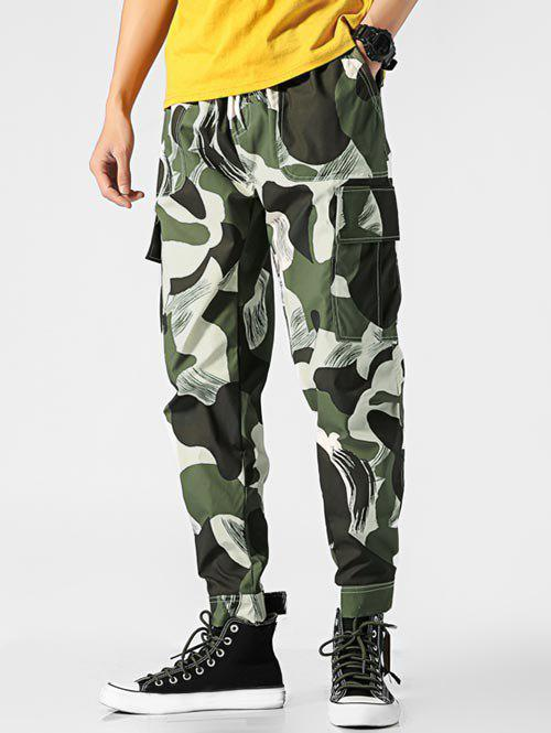 Chic Camouflage Printed Cargo Pants