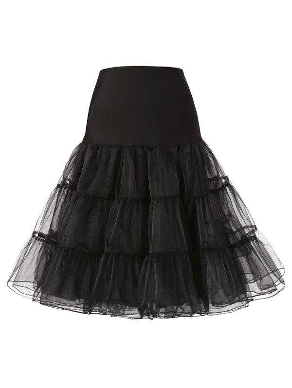 Shops Tiered Swing Solid Tulle Skirt