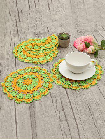 6 Pcs Decorative Crochet Cup Doily Set - MULTI