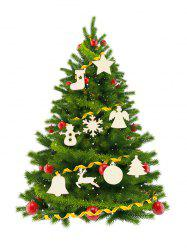 Snowman Elk Bell Pattern Christmas Tree Hanging Decorations Set -