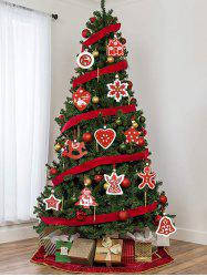 Snowflake Bell Star Pattern Christmas Tree Hanging Decorations Set -
