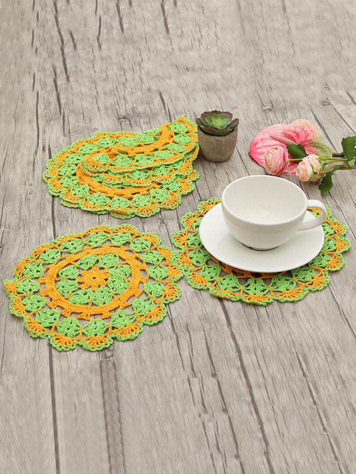 Outfit 6 Pcs Decorative Crochet Cup Doily Set