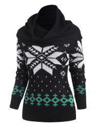 Christmas Snowflake Multiway Sweater with Ring Scarf -
