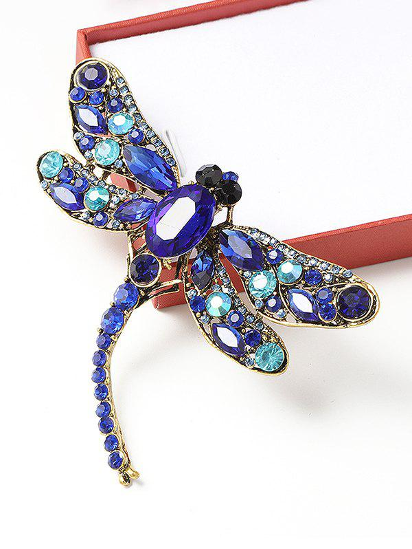 Fashion Retro Dragonfly Shape Rhinestone Brooch